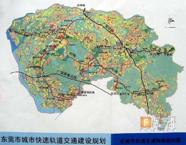 东莞厚街手绘地图